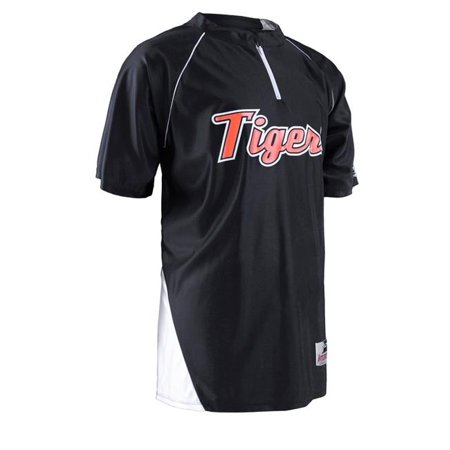 Shooting Jersey - Intensity N7410953LRG Shooting Jersey 0.25 Zip Short Sleeve T-Shirt, Black & White - Large
