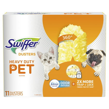 Swiffer 360 Dusters, Pet Heavy Duty Refills with Febreze Odor Defense, 11 count