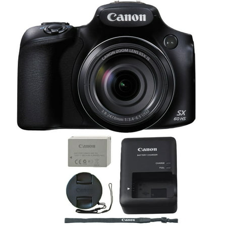 Canon PowerShot SX60 HS 16.1MP 65X Optical Zoom Built-In Wifi / NFC Digital Camera (Canon Sx60 Best Price)