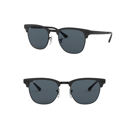 Ray-Ban Unisex RB3716 Clubmaster Metal Sunglasses, 51mm (Ray Ban Square)