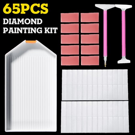 65PCS Diamond Painting Kit  Cross Stitch Diamond Painting Tools Set - image 8 de 8
