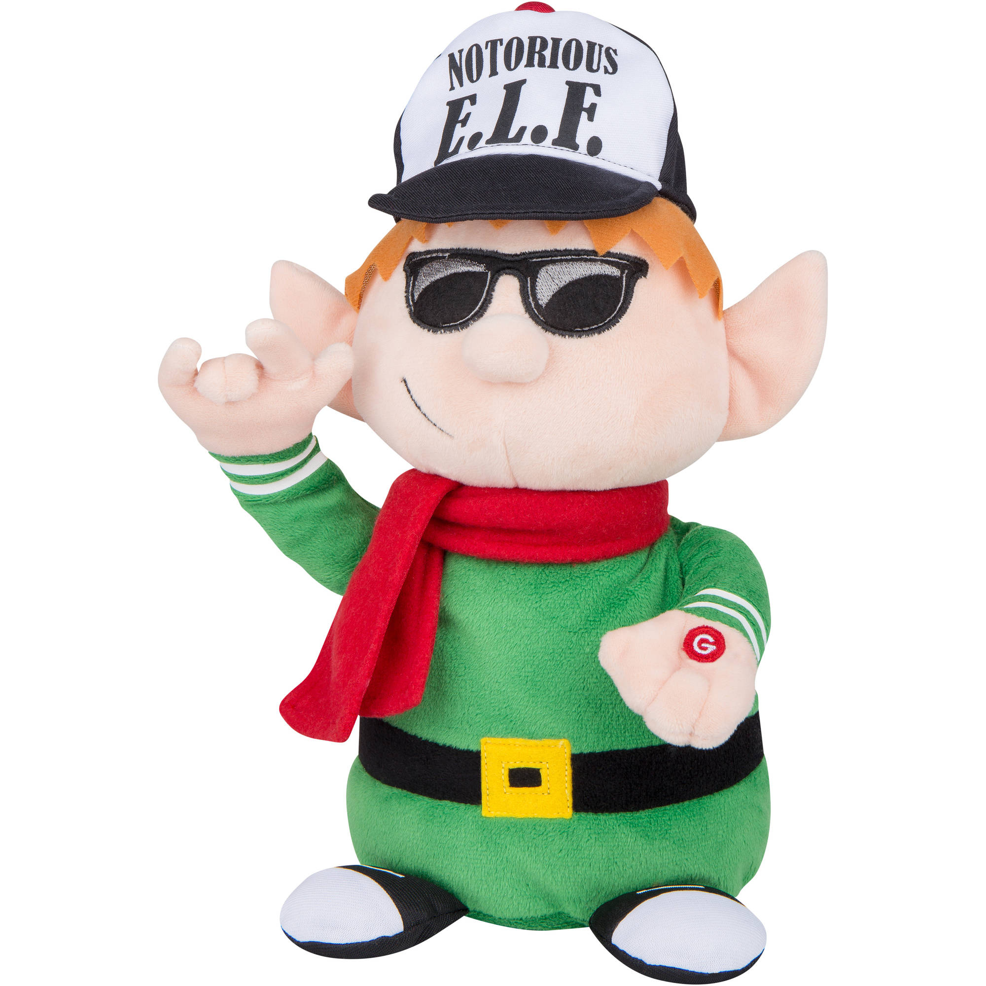 Holiday Time Animated Rapping Elf
