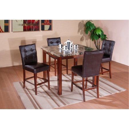 marble square dining room kitchen pub table 4 chairs