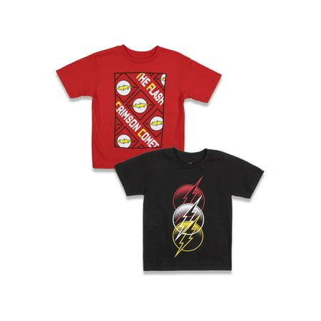 DC Comics The Flash Boys Crimson Comet & 3-Logo Graphic T-Shirts, 2-Pack, Sizes 4-18