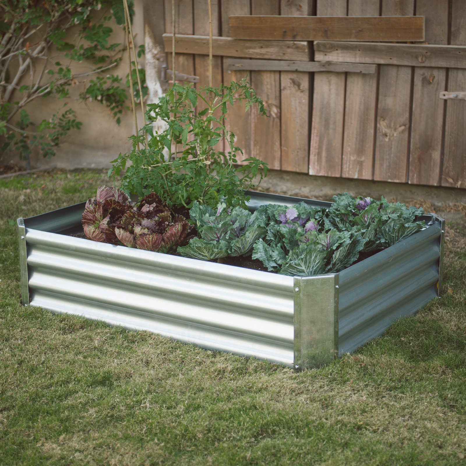 Belham Living Emery Corrugated Metal Raised Garden Bed with Lining - 47L x 35D x 12H