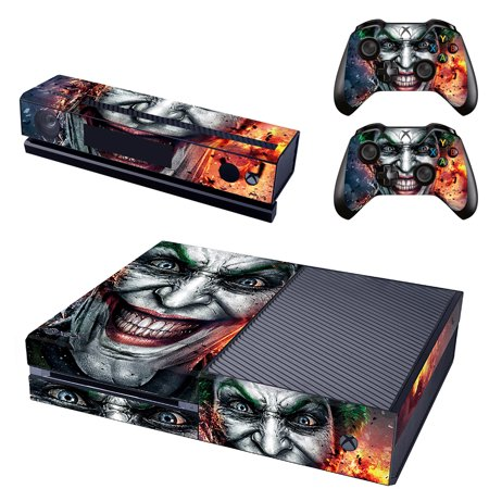 The Joker Xbox One Console SKIN + 2 x Controller Stickers Decal FacePlate -