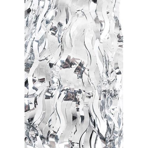 Wavy Foil TableSkirt, Silver