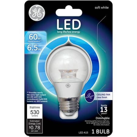 Ge Led 6 5w 530 Lumens Soft White A15 Bulb Walmart Com