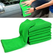 10Pcs 12'' x 12'' Auto Car Microfiber Cloth Wash Towel Duster Cleaning Soft Green