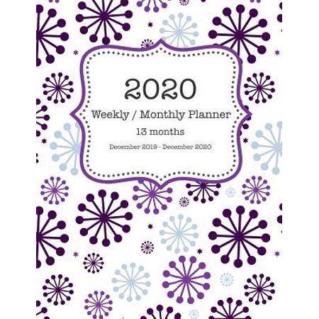 2020 Weekly / Monthly Planner 13 Months - December 2019 - December 2020: Purple Mod 60's Style Planner (Best Box Mod Kit 2019)