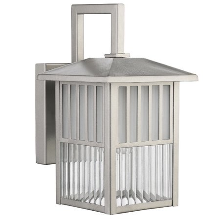 CHLOE Lighting FRISCO Transitional 1 Light Painted Nickel Outdoor Wall Sconce 11