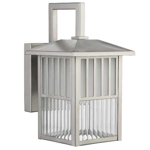 "CHLOE Lighting FRISCO Transitional 1 Light Painted Nickel Outdoor Wall Sconce 11"" Height"