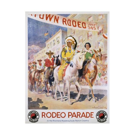 Northern Pacific Railroad Map (Rodeo Parade Northern Pacific Railroad Poster Print Wall Art By Edward Brener)
