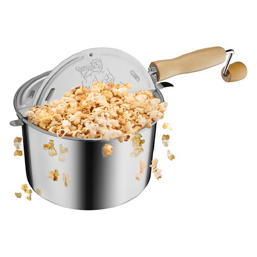 Great Northern Popcorn 6251 Original Stainless Stove Top Popper
