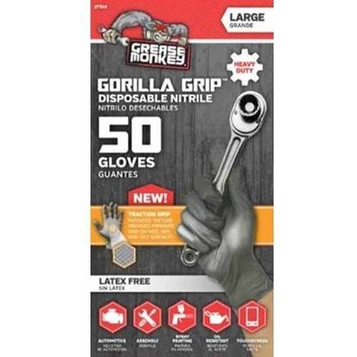 Grease Monkey Gorilla Grip Nitrile Disposable Glove, 50-Count by Big Time Products, LLC