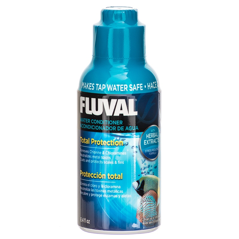 Fluval Water Conditioner for Aquariums 8.4 oz (250 ml) - Treats up to 500 Gallons