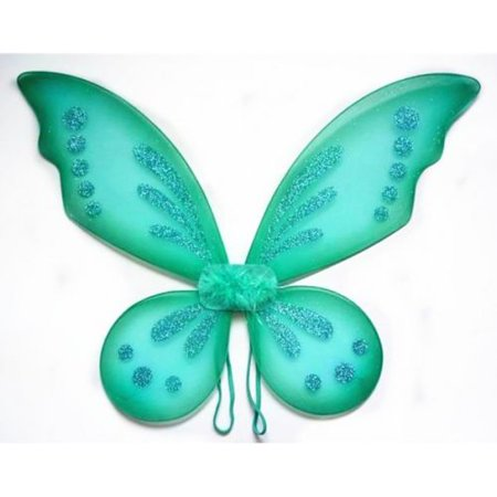 Teal Turquoise Tinkerbell Pixie Butterfly Fairy Wing Dress Up Girls Costume