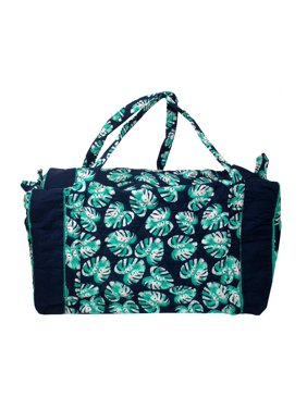 Product Image Darice Fashion Bags Fabric Duffel Palm Blue 138944cf1acb4