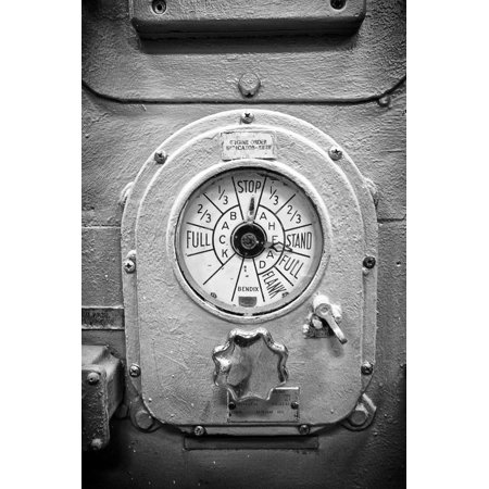 Engine Controls Aboard the Uss Midway in San Diego, Ca Print Wall Art By Andrew