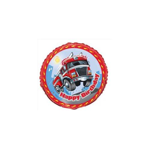Unique Industries 21461 Fast Fire Engine Birthday Foil Balloon Packaged Pack of 5