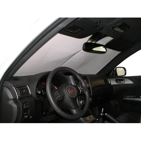 The Original Windshield Sun Shade, Custom-Fit for Subaru WRX STI Hatchback (5D) 2013, 2014, Silver