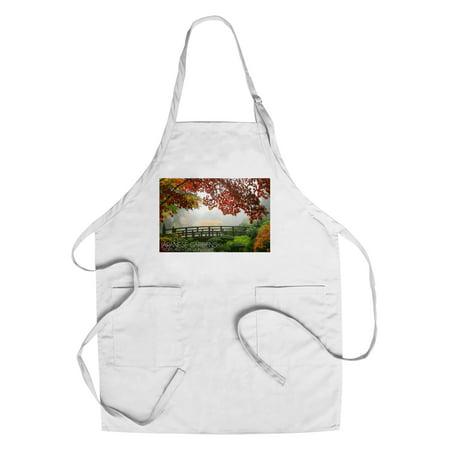 Portland  Oregon   Japanese Gardens 1   Lantern Press Photography  Cotton Polyester Chefs Apron