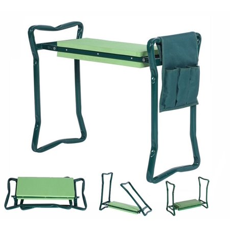5star Foldable Garden Kneeler With Handles And Seat Bonus Tool Pouch Portable Chair Stool Bench Thick Eva Cushion Pad Perfect For Planting