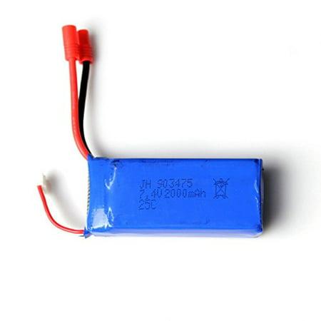 2pcs 25C 7.4V 2000mAh Lipo Battery (Banana Plug) For Syma X8C X8W X8G Quadcopter - image 5 de 5