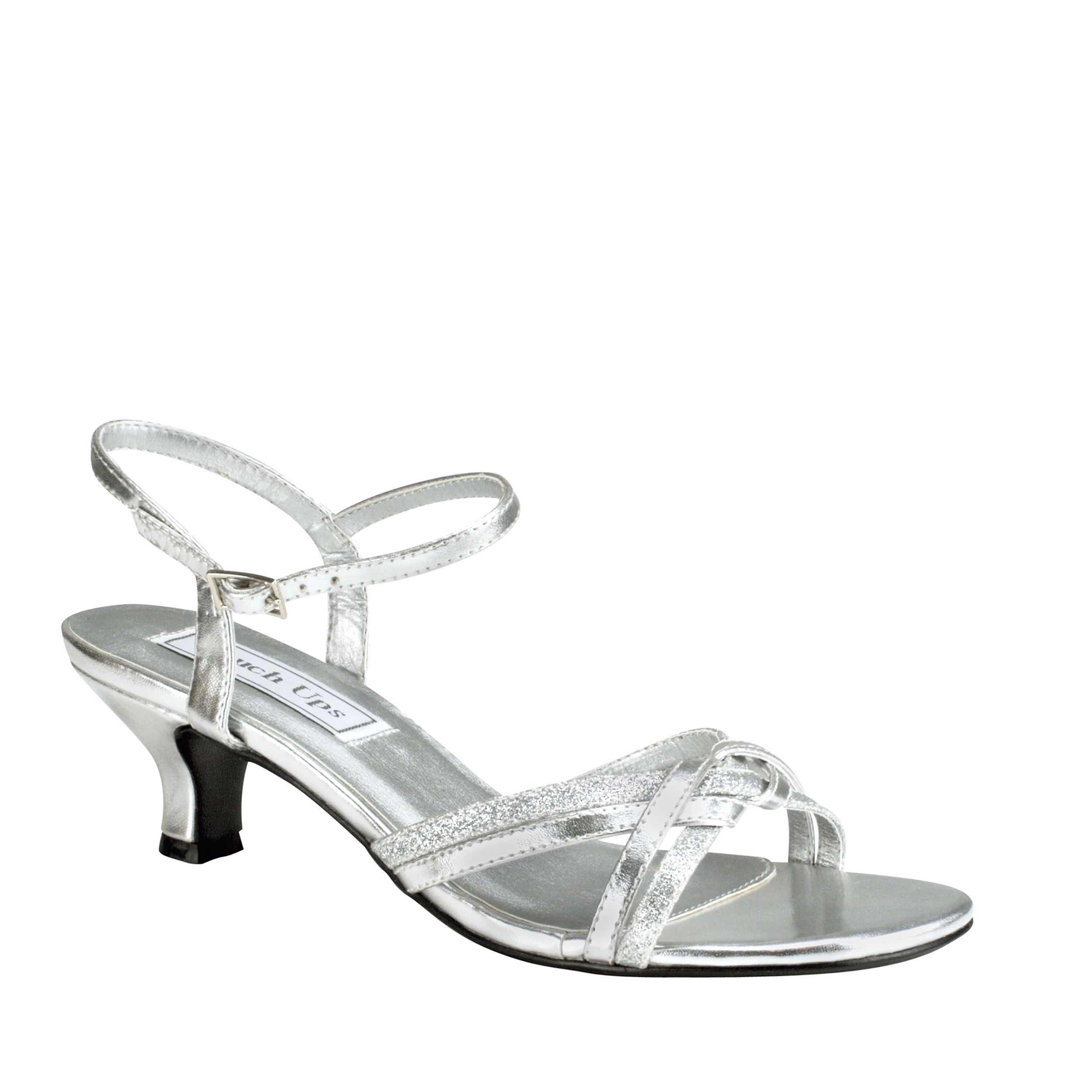 Touch Ups Melanie Womens Silver Sandals 11 W by