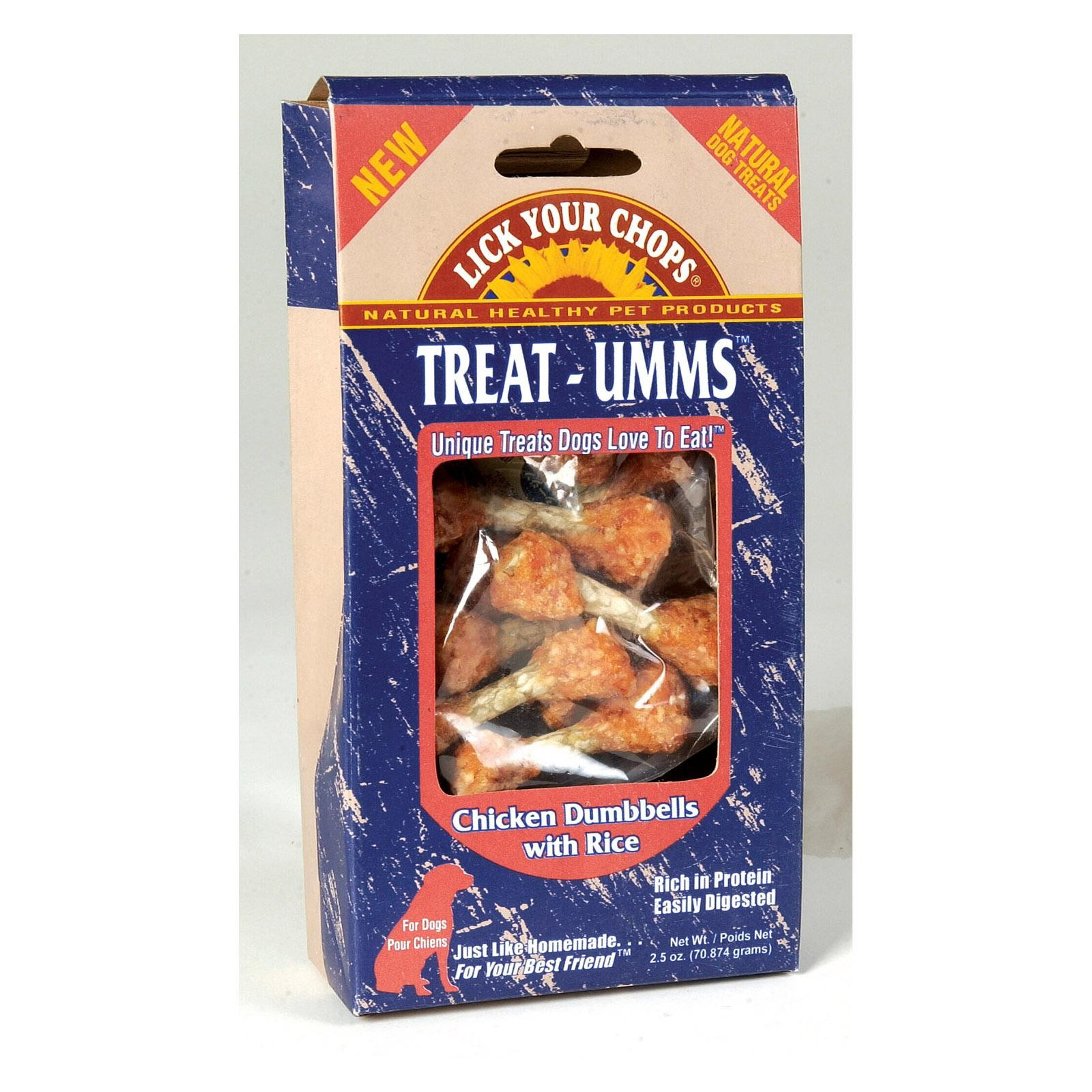 Lick Your Chops Treat - Umms Dog Treats - Chicken Dumbell - Pack of 6 - 2.5 Oz.