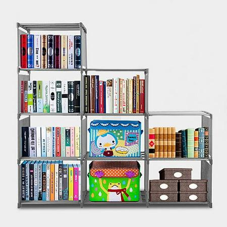 Kids Adjustable Bookcase 9 Cube Storage Organizer Book Storage Kids Bookshelf  Shelves Contemporary Home Furniture ()