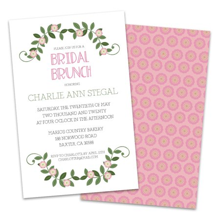 Personalized Floral Vines Wedding Luncheon Invitations](Floral Wedding Invitations)