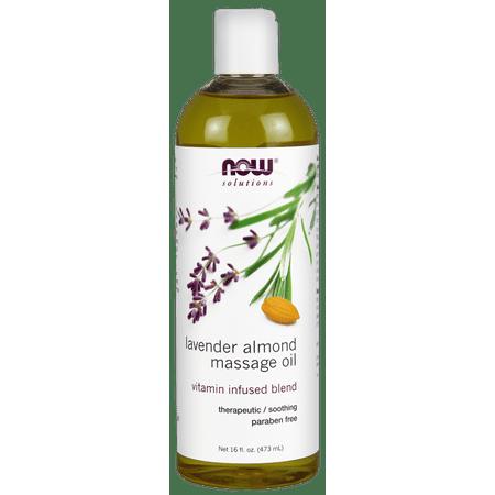 Oil Free Massage Cream - NOW Lavender Almond Massage Oil, 16 Fl Oz