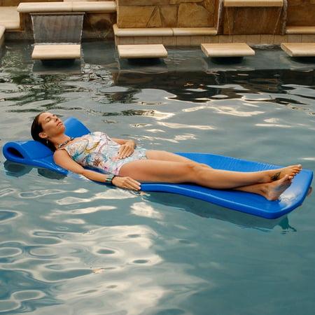 Pool Mate Foam Large Mattress Pool Float, Blue ()