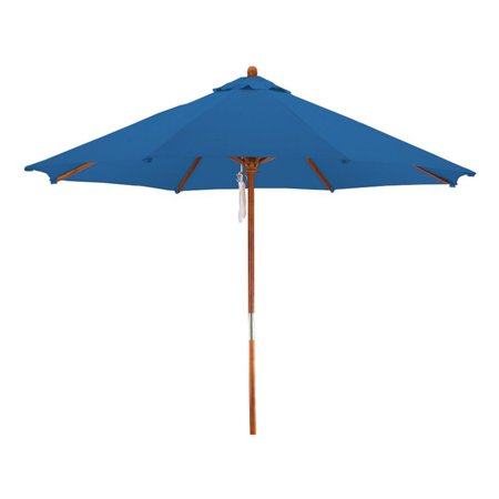 Lauren and Company 9 Wood Patio Market Umbrella, Multiple Colors Available