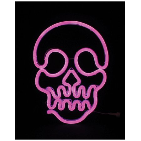 Halloween Celebrations In Chicago (Celebrations 1TS04N14 Halloween Neon Skull, Purple, 14.5