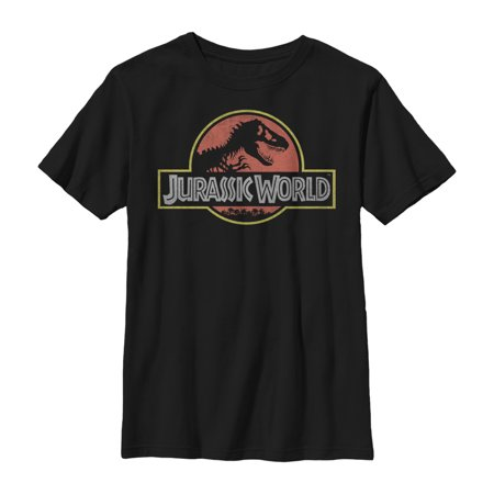 Jurassic World Boys' Iconic Logo T-Shirt (Ou Logo)