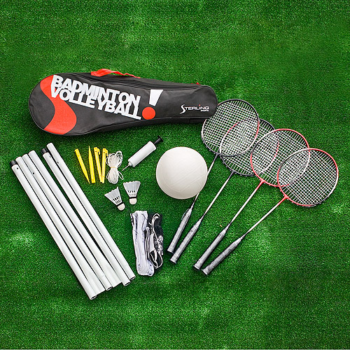Sterling Sports Badminton/Volleyball Combo Set