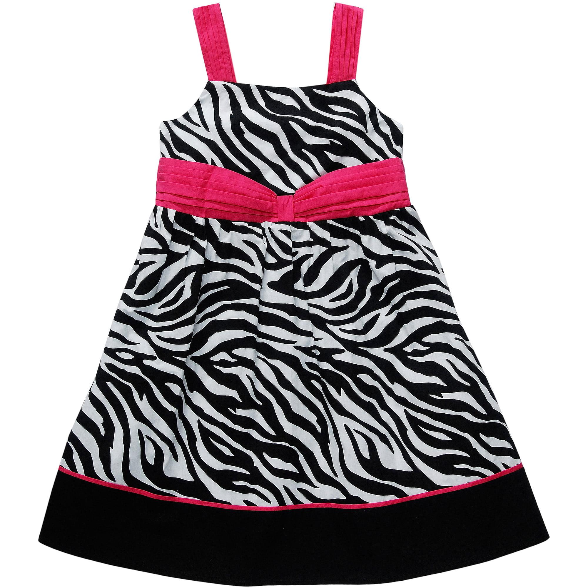 George Plus Girls' Zebra Print Sundress
