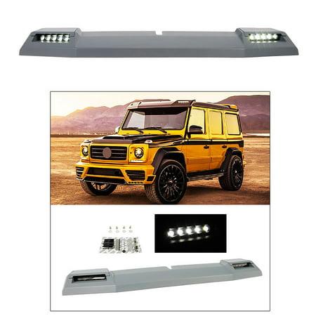 - Front Roof Spoiler for 1999-2018 Mercedes W463 G500 G55 G550 G63 G65 w LED Light