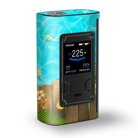 - Skin Decal Vinyl Wrap for Smok Majesty 225W TC Kit Vape Kit skins stickers cover/ Flip Flops and Fish Summer