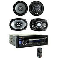 Kenwood KDC-BT362U Bluetooth Player Car Stereo Radio + 6.5 & 6x9 Inch Speakers