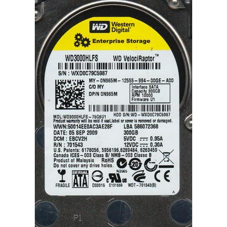 WD3000HLFS-75G6U1, DCM EBCV2H, Western Digital 300GB SATA 2.5 Hard Drive
