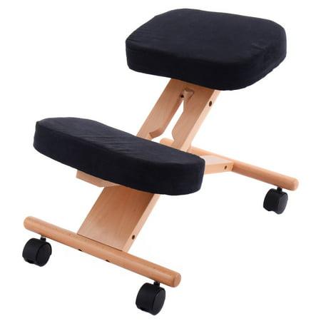 Fabulous Costway Ergonomic Kneeling Chair Wooden Adjustable Mobile Dailytribune Chair Design For Home Dailytribuneorg