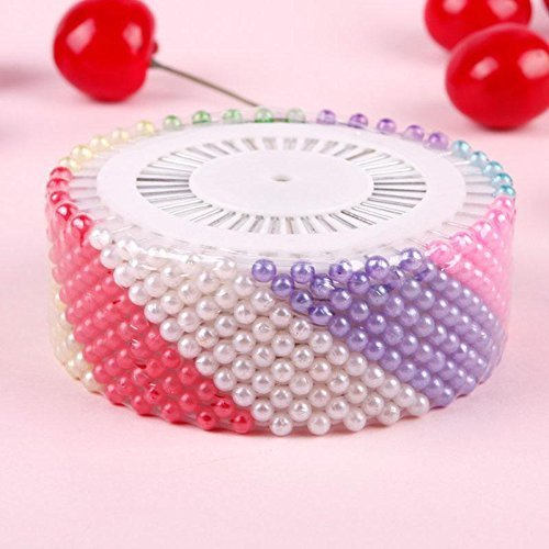 480Pcs Dressmaking Sewing Pin Straight Pins Round Head Color Pearl Corsage R PA