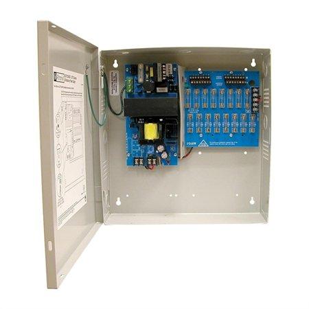 Altronix ALTV1224DC2 CCTV Power Supply, 16 Fused Outputs, 12/24VDC @ 6A, 115VAC, BC300 Enclosure