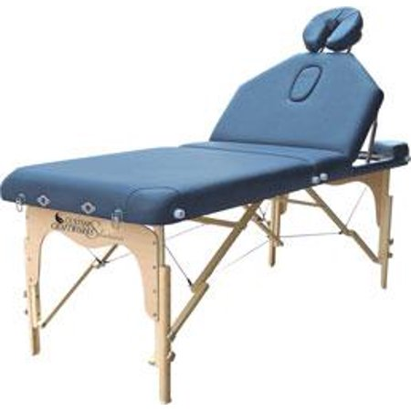Solutions Destiny Portable Tilt Wood Massage Table-Color:Navy