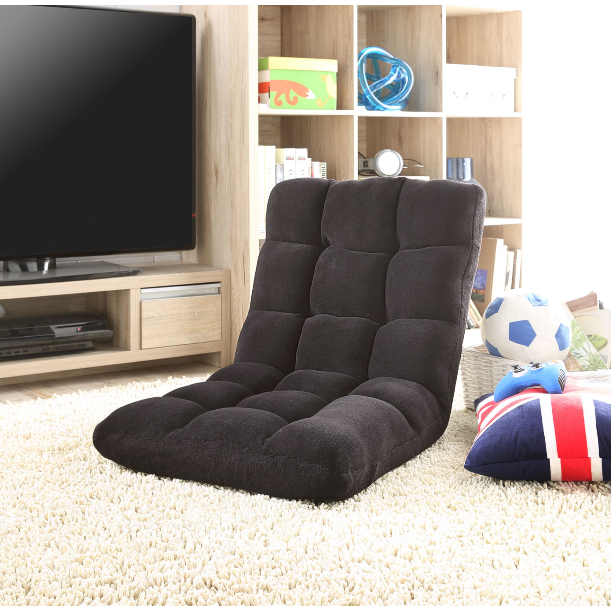 Loungie Microplush Modern Convertible Chair