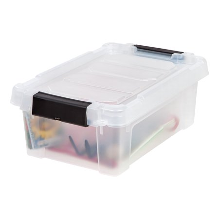 IRIS USA, 3 Gallon Store-It-All Plastic Storage Tote, Clear