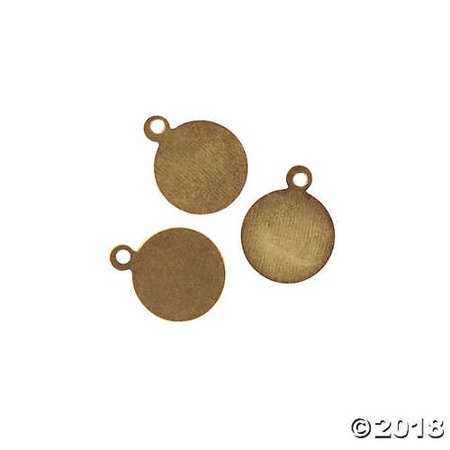 Antique Goldtone Round Plate Charms